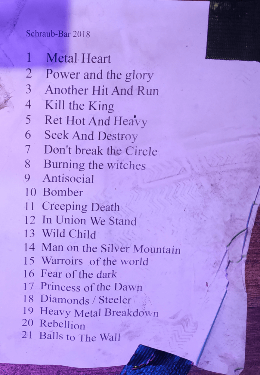 Setlist, noch ohne 'Rockin' In The Free World'...